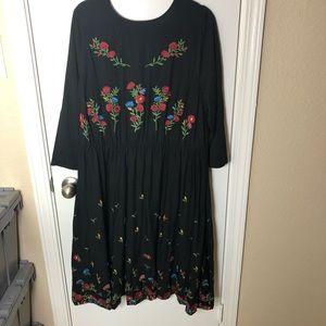 Torrid Embroidered Floral Boho Dress